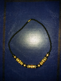 Olden style necklace with black beads