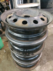 4 x 15 inch rims steel mags 4 x 100