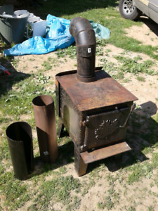 Older Canadian wood stove & 6 in stove  pipe