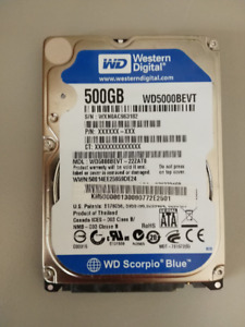 Western Digital Hard Drive - Scorpio Blue WD5000BEVT 500GB