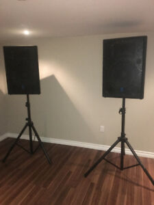 400W Yorkville Speakers with Stands