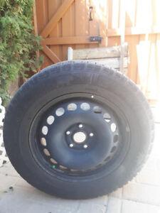 pneu d'hiver avec jantes 16 pouces