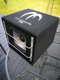 Car Sub-woofer, 4 x speakers, VIBE Black Box 3 amp, wiring