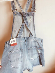 Tommy Hilfiger Medium Wash Denim Overalls