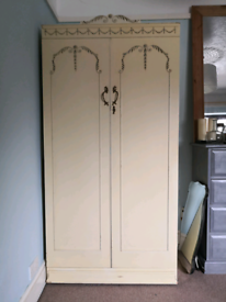 Vintage shabby chic wardrobe - french Louis style