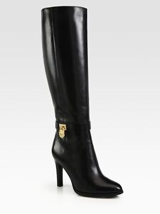 HIGH-END MICHAEL KORS LEATHER STILLETTO BOOTS - NEW! (PAID $400