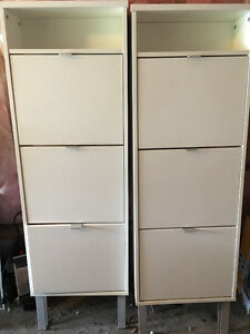Two 3-Drawer Shoe Storage Cabinets $150 for Both