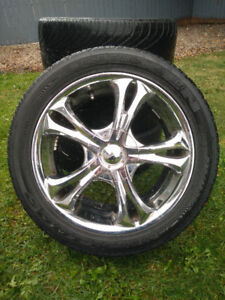 Chrome rims with summer tires