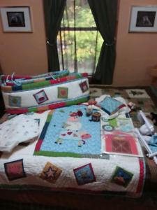 Baby nursery blanket and room decor farm baby animal