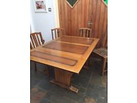 Art Deco Oak Table And Chairs