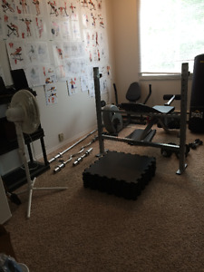 Complete weight training equipment, like new $800 obo