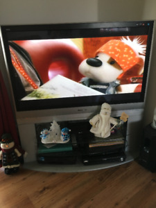 """55"""" Panasonic TV with stand & remote"""
