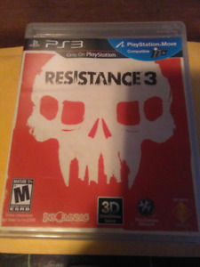 PLAYSTATION 3  RESISTANCE 3 VIDEO GAME PS3