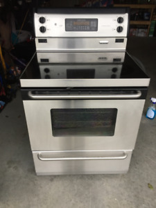 GE self cleaning stainless steel oven