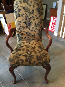 High backed occasional chairs with arms