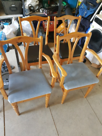 Dining chairs x 6