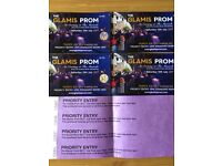 4 tickets for Glamis Prom on 15th July