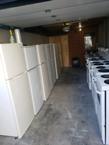 Refrigerators and stove with warranty part's and labour