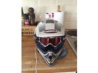 Moto cross helmet kids size good condition and Mx Top and trousers