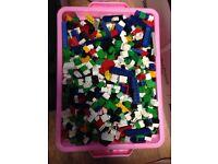 Box of replica lego