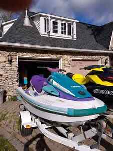 1996 Waventure Jet Ski With Double Trailer