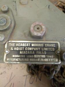 MORRIS CRANE CHAIN HOIST 1/4 TON