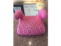 Pink Flower Child's Booster Car Seat