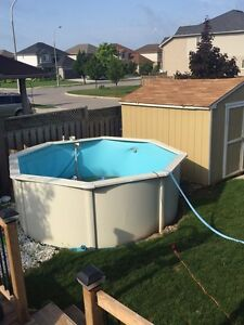 """12""""pool perfect size for smaller yards"""