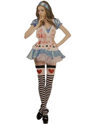 Adult Sweetie Outfit Fancy Dress Costume Halloween Zombie Alice in Wonderland BN
