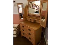 Edwardian satinwood dressing table, very pretty vgc