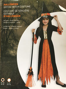 Costume d'Halloween sorcière/ Witch Halloween costume for kids