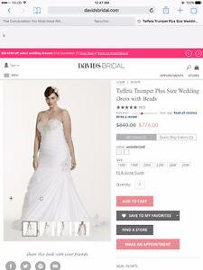 Strapless White Wedding Dress - David's Bridal - 16W