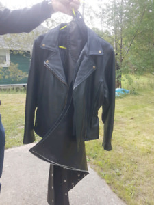 Womens Leather jacket and chaps