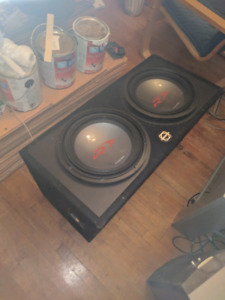 "2- 12"" type R ALPINE SUBWOOFERS IN PORTED BOX"