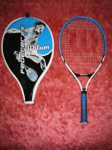 "Wilson Federer 23"" Kid's White / Blue Tennis Racquet"