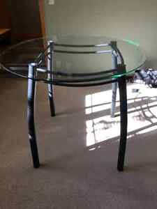 Dining table contemporary 3/4 height
