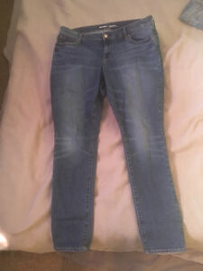 Old Navy Semi Distressed Jeans,Size 14, Excellent Condition