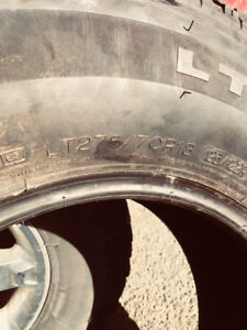 "18"" Michelin truck tires"
