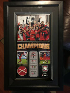 Toronto FC 2017 MLS Cup Ball/Ticket/Net 10x18 Fanatics Frame
