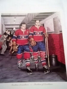 MAURICE RICHARD AND JEAN BELIVEAU AUTOGRAPHED PICTURE Strathcona County Edmonton Area image 1