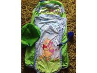Winnie the Pooh ready bed sleeping bag air bed