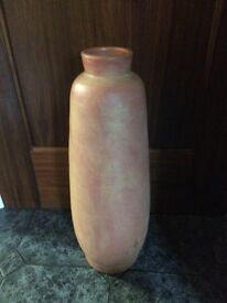 "Large clay earthenware vase, 24"" tall"