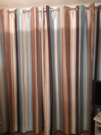 Reduced for quick sale Striped curtains, lined. 66inches x90inch drop