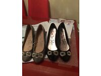 Bargain 2 pairs of brand new flat shoes size 6 only £10