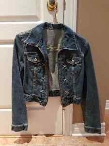 Jean jacket with zipper West Island Greater Montréal image 1