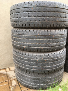 4 PNEUS D'HIVER / 4 WINTER TIRES  LT 275/65/18 FIRESTONE WINTERF