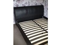 King size sleigh bed and new unused mattress