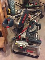 Bosch Dual-Bevel Glide Miter Saw 12'+ Gravity rise wheeled stand