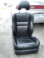 honda leather power bucket seat