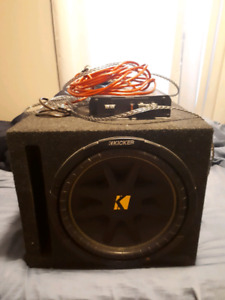 12' Subwoofer Full Setup